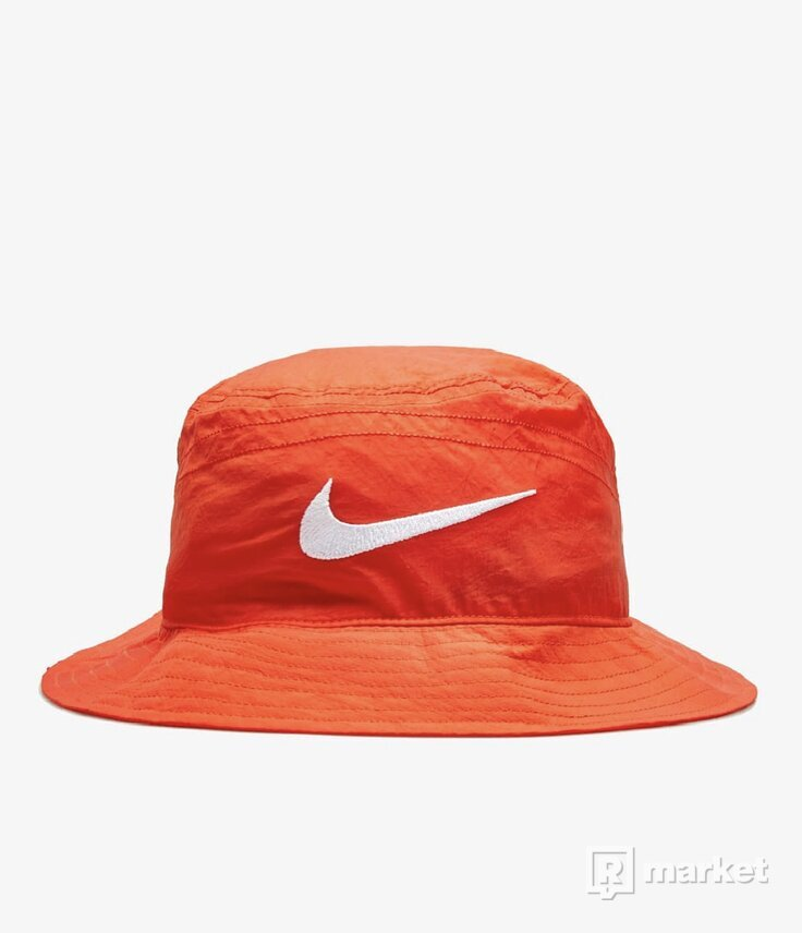 Nike x Stussy BucketHat Habanero Red
