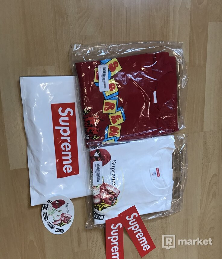 Supreme tees (released 27.6)