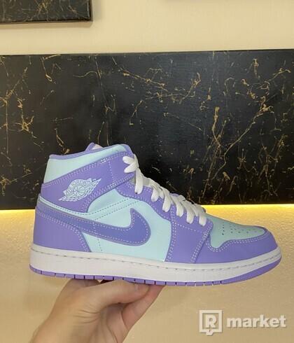 Jordan 1 Mid Purple Aqua