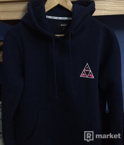 HUF Dimensions Triangle Hooded navy