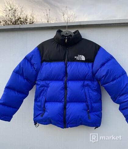 Tnf North Face puffer nuptse jackets bunda zimná Modra L
