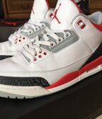Jordan Retro 3 Fire Red