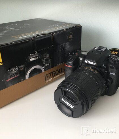 Nikon D7500 čierny + objektív 18-140 mm VR