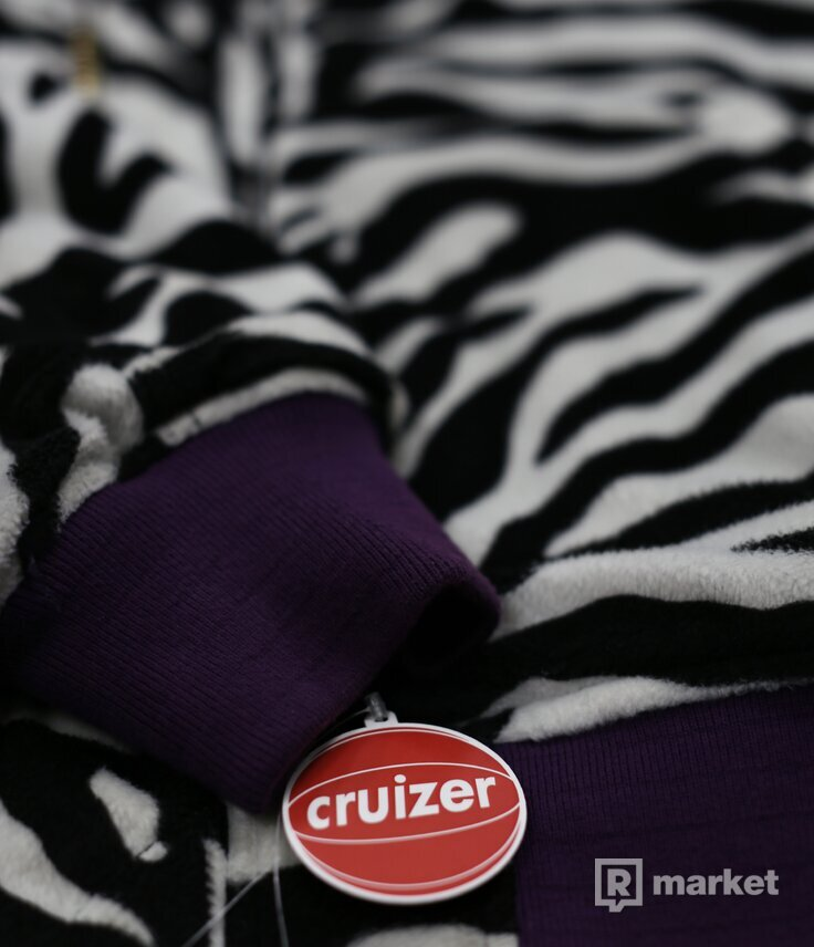 Supreme Reversible Zebra MA-1 Bomber Jacket Purple