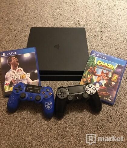 Playstation 4 slim vo velmi dobrom stave