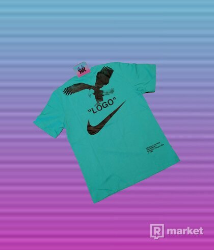 "OFF-WHITE x NIKE NRG A6 TEE ""RETRO BLUE"""