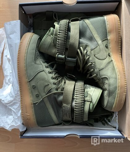 nike SF air force 1 faces Olive
