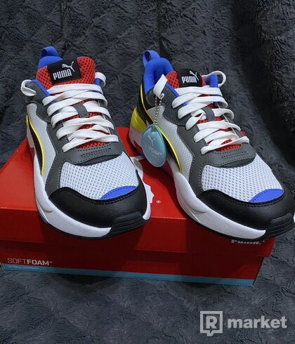 Topánky Puma X-Ray White-Blk-Dk Shadow-Red-Blue Size 42 US 9