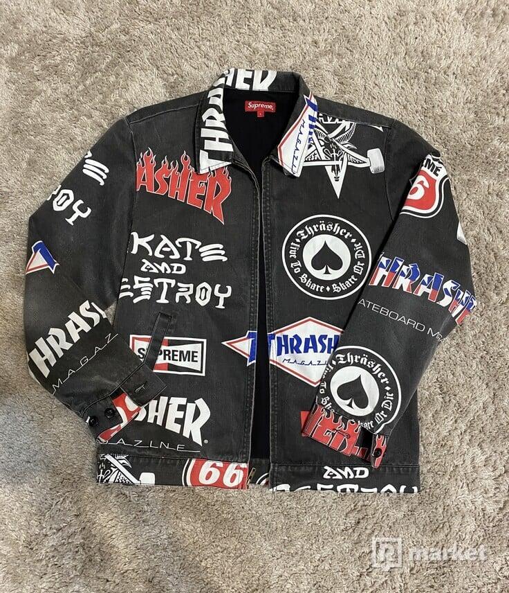 Supreme x trasher jacket
