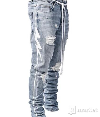 Lakenzie denim bolt pants
