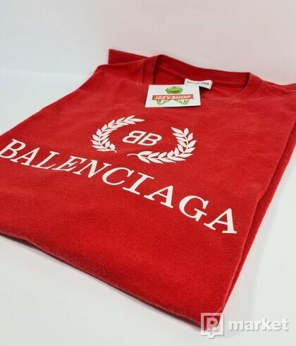 BALENCIAGA LOGO TEE RED