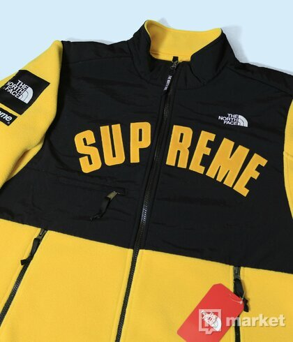 Supreme x The North Face fleece Arc logo Yellow
