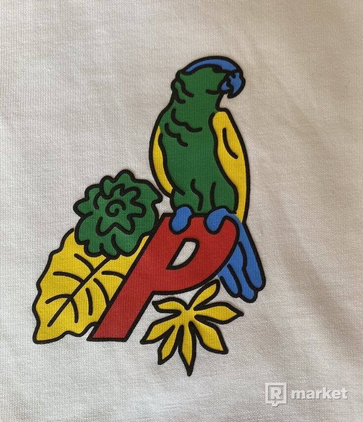 PALACE Parrot T-Shit Medium Biele