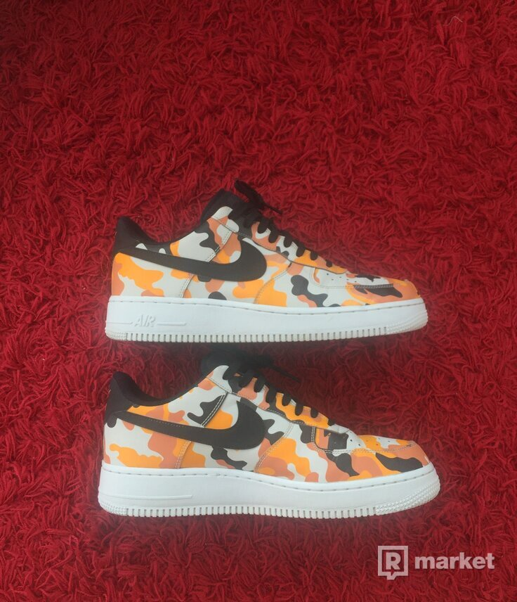 Nike Air Force one low Camo Orange
