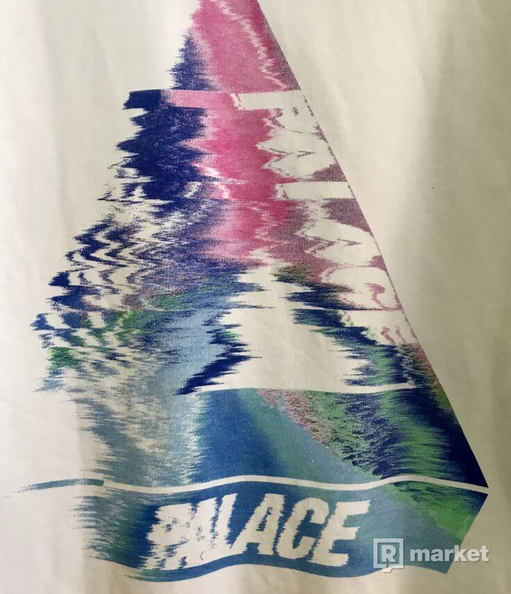 Palace Tri Smudge Hoodie white