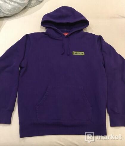 Supreme Stop Crying Purple Hoodie