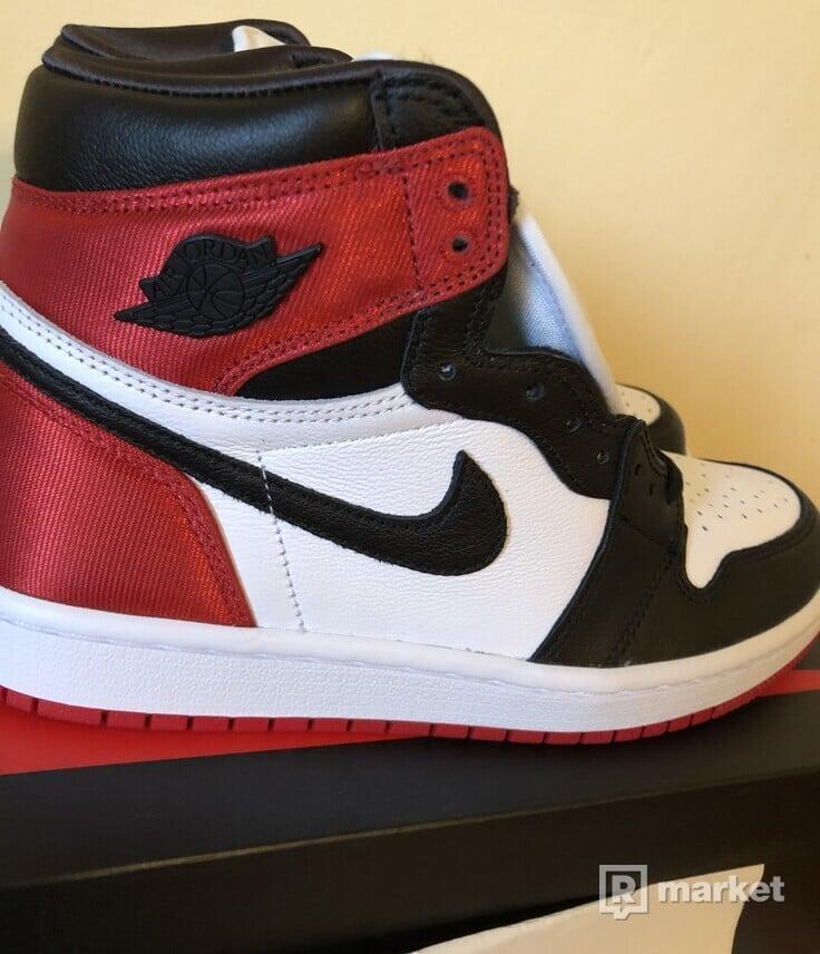Air Jordan 1 Satin Black Toe- 6,5W