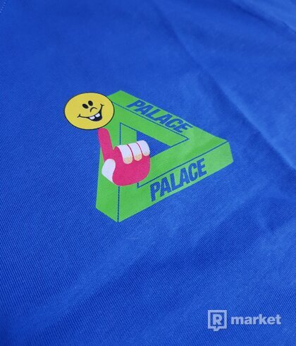 Palace Tri smiler tee blue