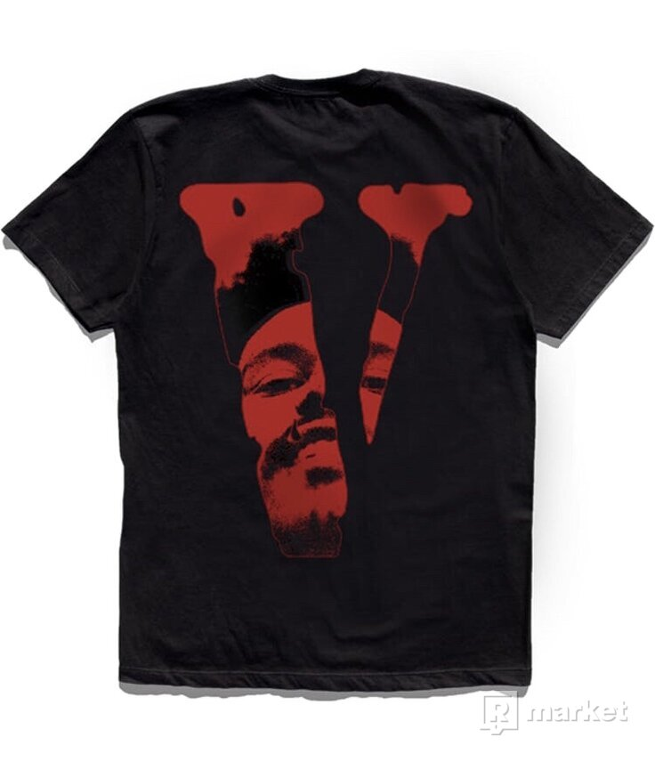 The Weeknd x Vlone After Hours Blood Drip Tee Black