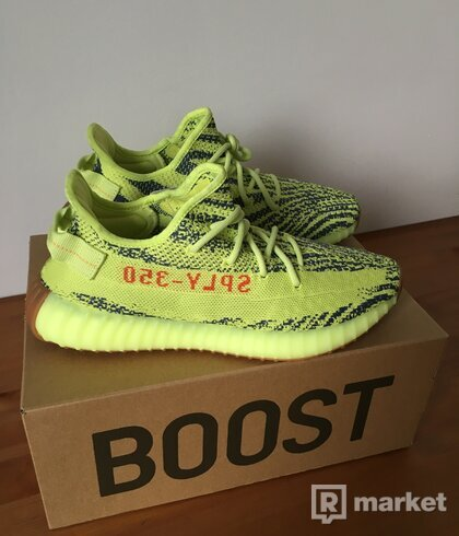 "Adidas Yeezy Boost 350 V2 ""Semi-Frozen Yellow"" US10.5"