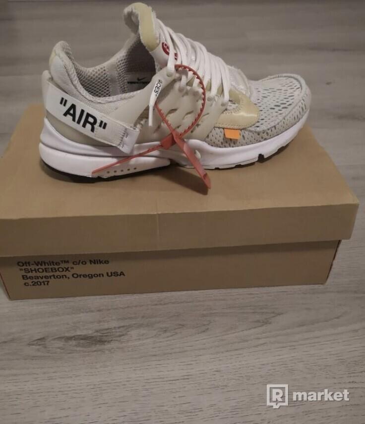 Nike ow presto white