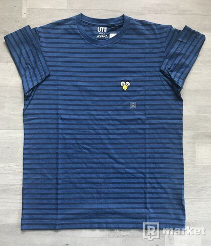 KAWS x Uniqlo Graphic Tee (Blue/Striped)