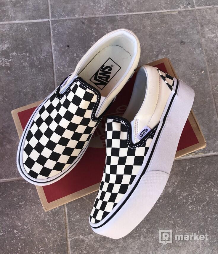 Dámske Vans checkerboard Slip-on PLATFORM