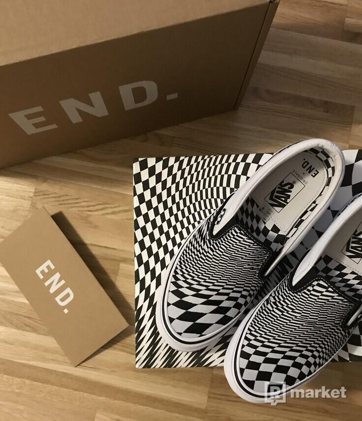 END. x Vans Slip On Vertigo