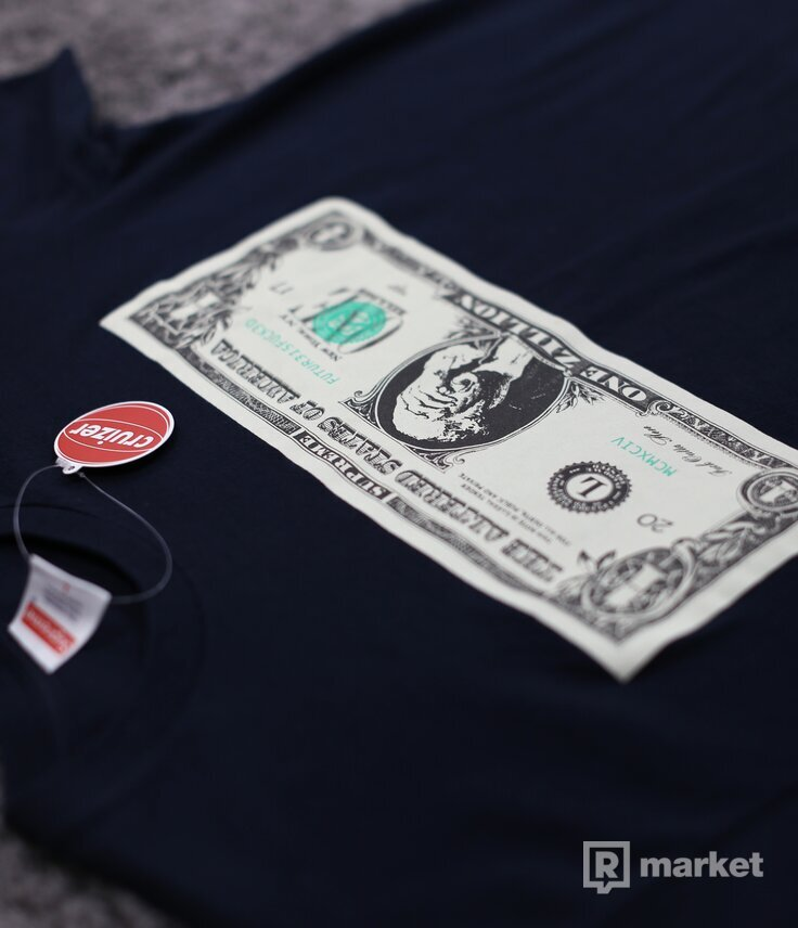 Supreme Dollar Tee Navy