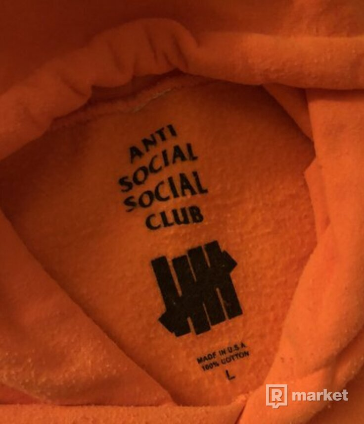 Anti Social Social Club Assc Undefeated Paranoid Pouch Hoodie (Orange)