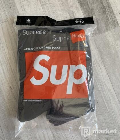 Supreme / Hanes Ponožky, 30€ za celé balenie (4 kusy)