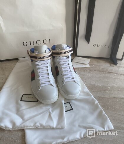 Gucci stripe ace hightop