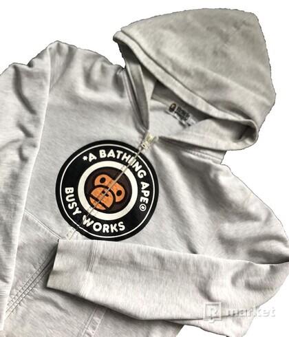 Bape ZIP hoodie grey