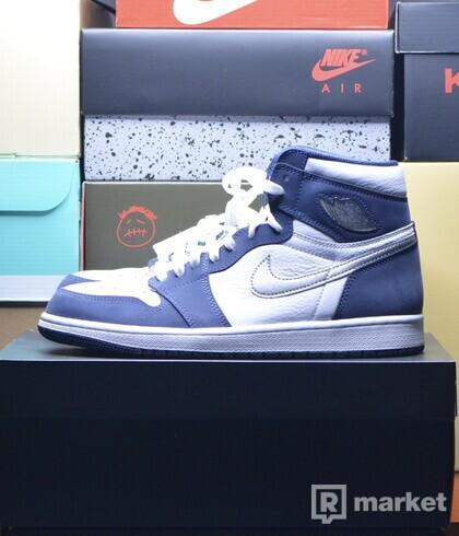 "Jordan 1 High ""Midnight Navy"" (worn)"