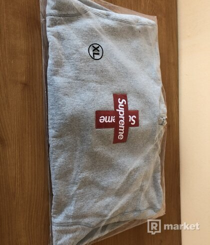 Supreme Box Logo Heather Grey