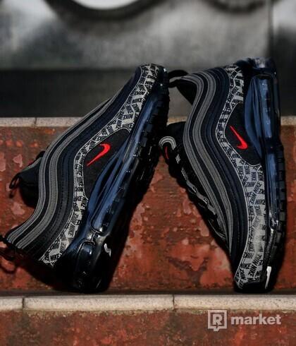 Nike Air 97 Reflective Logos Black/University Red za NMD alebo boty s boostom