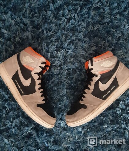AJ1 high neutral grey hyper crimson