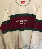 Supreme Centre Stripe Crewneck Gucci