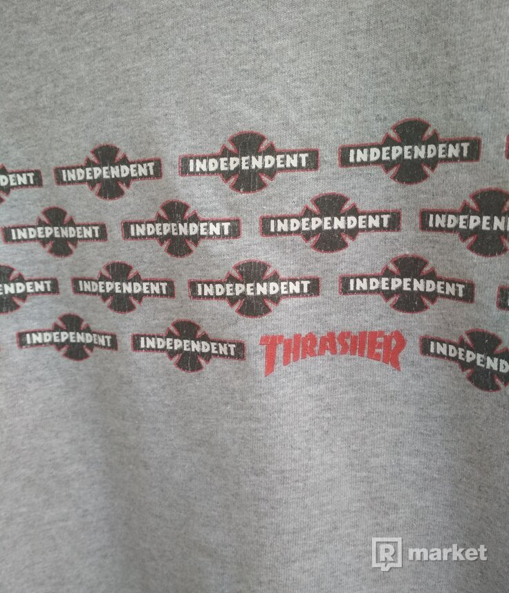 Thrasher x independent tee