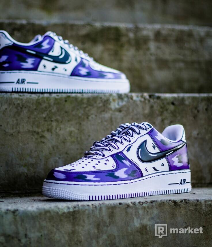 Nike AF1 Low Purple cartoon