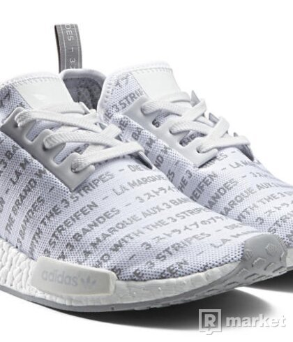 "Adidas NMD R1 ""Whiteout"" vel. 44 2/3"