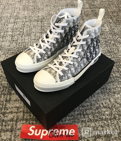 Dior B23 High Top Logo Obligue
