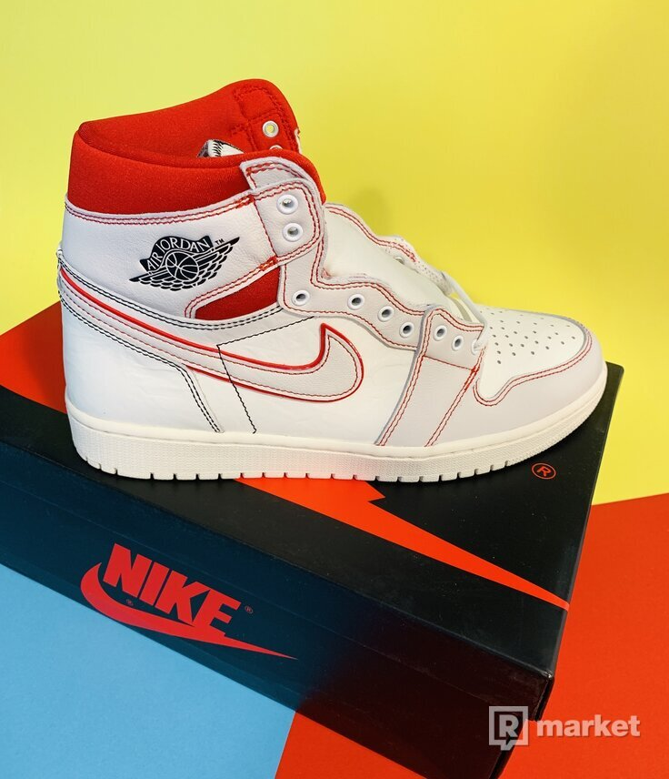 Jordan 1 Retro High Phantom Gym Red  Velikost: US 10 / UK 9 / EUR 44  Stav