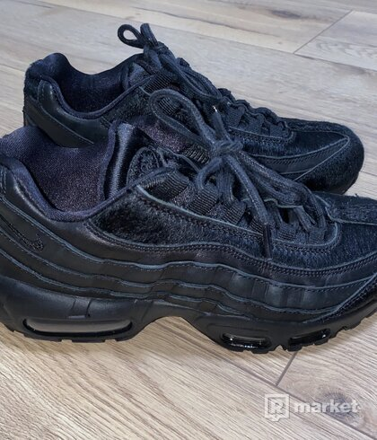 Nike Air Max 95 Premium 'Triple Black' with Pony Hair