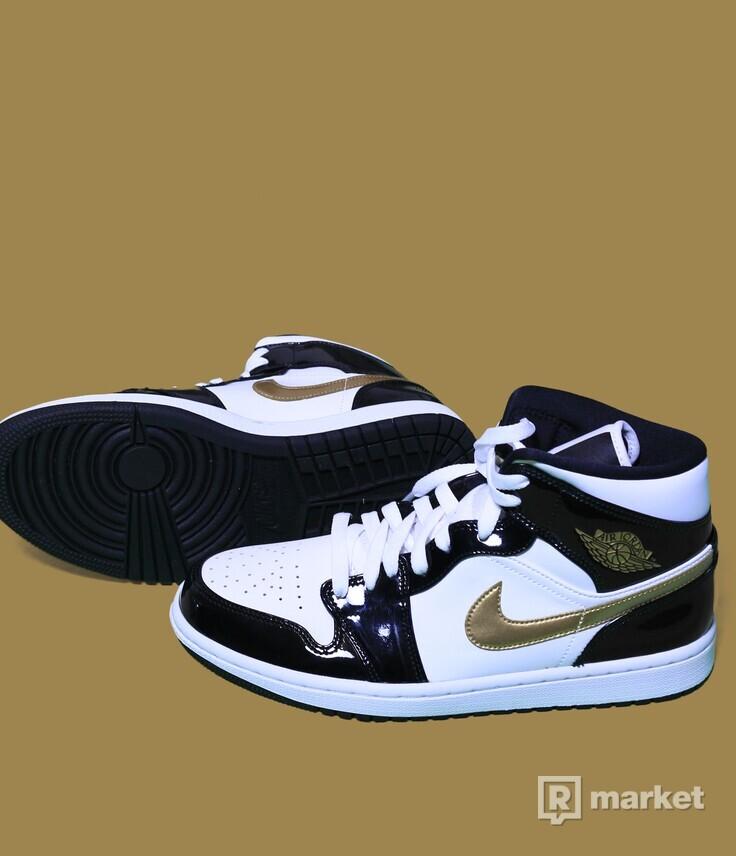 Air Jordan 1 mid Patent Black