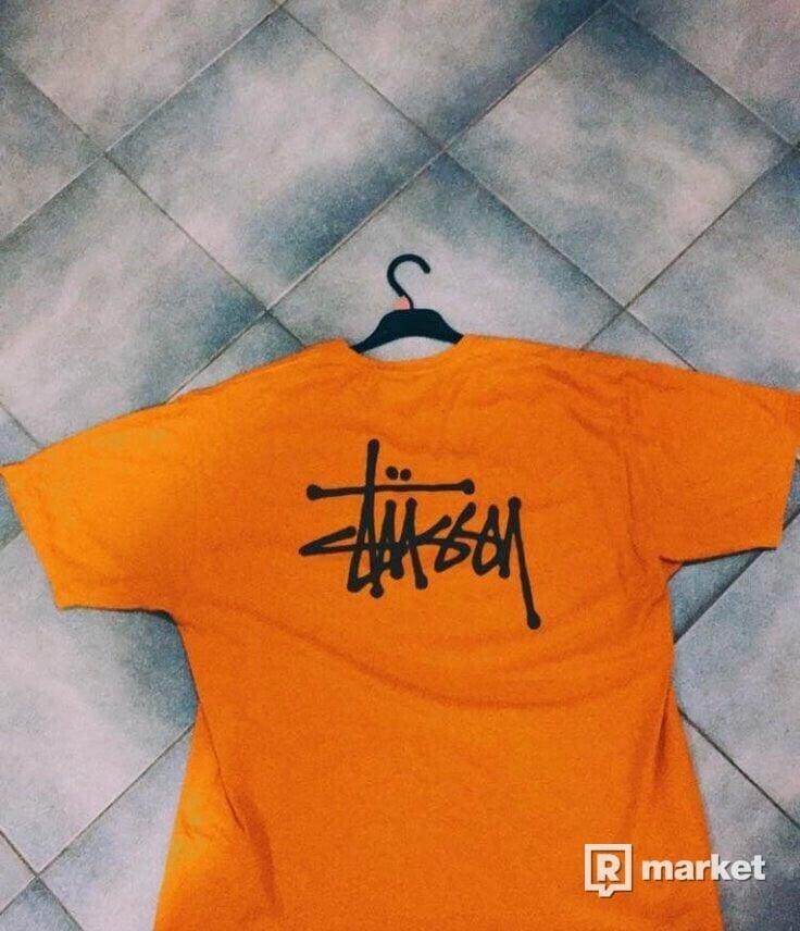 Stussy basic logo tee orange