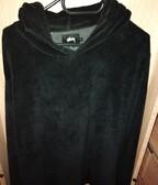 Stussy velour hoodie black L