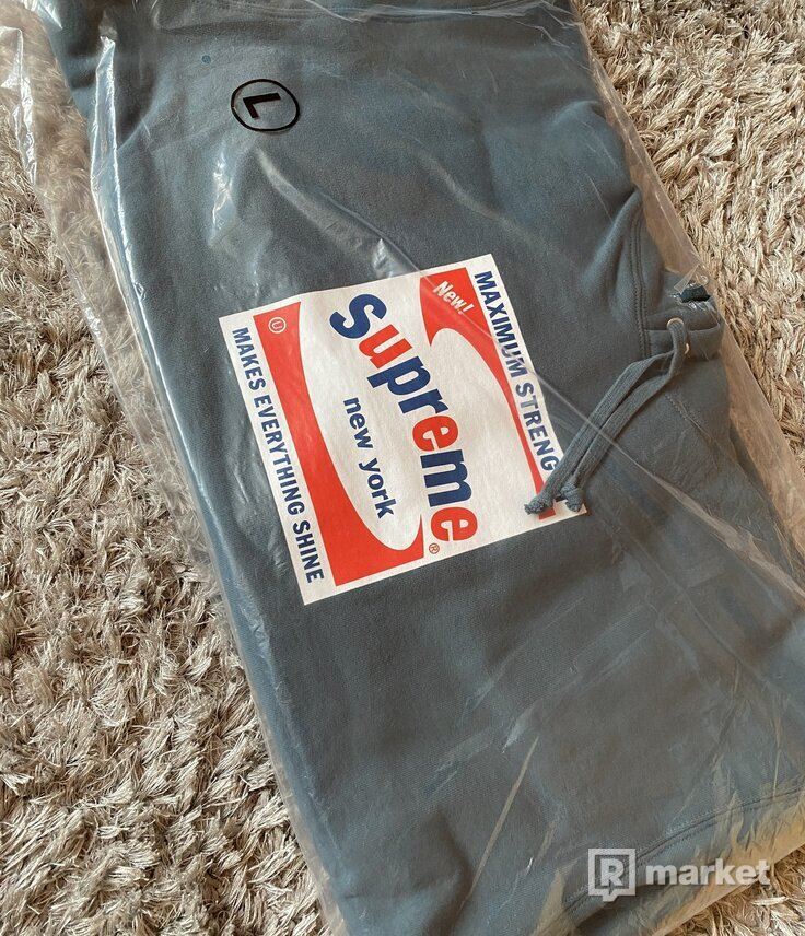 Supreme Shine Hooded Sweatshirt Slate