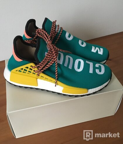 Adidas x Pharrell NMD HU Human Race Trail Sun Glow US9