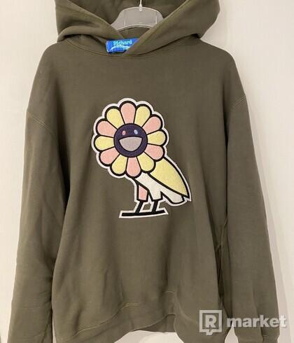 OVO x Murakami flower owl hoodie XXL
